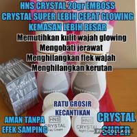 CREAM HNS CRYSTAL 25gr BPOM EMBOSS ATAS DAN BAWAH