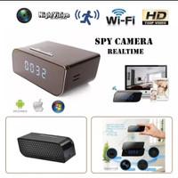IP Spy Camera Spycam Jam Alarm Clock Wifi 1080P FULL HD Slim / Kam