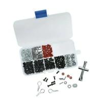 TOOL KIT SCREW BOX RC CAR 1/10 270 PCS + KUNCI BAN WRENCH 1/10