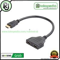HDMI SPLITER 2 PORT KABEL 3D HD 1080P SPLITTER CABANG V 1.4