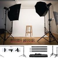 PROMO!!! Paket Stand Photo Studio Ukuran Besar 2.6 m x 3 m