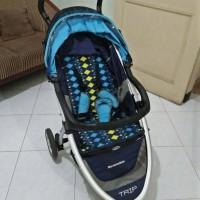 Baby Stroller Cocolatte Trip Reversible blue Kereta Dorong Bayi