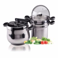 BEST Oxone OX 1060F Panci Presto 5 in 1 Stainless Silver