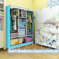 lemari pakaian kain portable siap kirim ke jogja, Surabaya di makassar