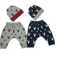 Celana Bayi dan topi bayi umur 6 bulan ke atas 1 set isi 2