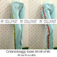 celana panjang wanita/ celana rawis/basic off white