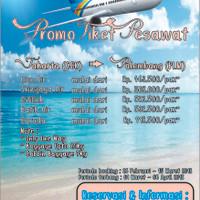 PROMO TIKET PESAWAT JAKARTA (CGK) ke PALEMBANG (PLM)