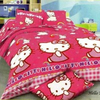 Bedcover Romeo ukuran 120 x 200 / Extra Single / No.3 - Hello Kitty