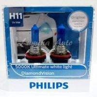 Philips Diamond Vision H11 55 Watt - Lampu Mobil Putih 5000K