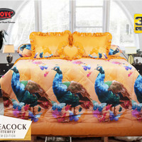 180 Bed Cover My Love Butterfly & Peacock No.1