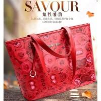 Tas Merah Jinjing Hobo Handbag Wanita Elegan Kece Keren