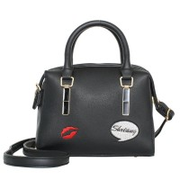 Tas Handbag Black Selempang Wanita Import Pergi Kece Keren