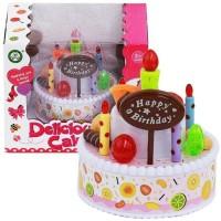 Mainan Kue Ulang Tahun / Singing Cake - light and Music Happy Birthday