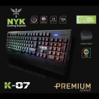 NYK K07 / NYK K-07 Gaming Keyboard Audio Sensor RGB