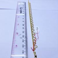 Gelang rantai emas kuning 70% berat 4 gram panjang 16cm