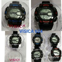 jam tangan digital sporty anti air water resist casio merk VISICA