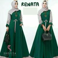 maxi renata ijo botol fashion muslim gamis wanita