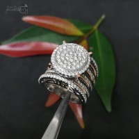 Fashion Terbaru Kaka Cincin Cetar Emas Putih Full Berlian Eropa