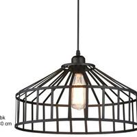 Lampu gantung hias minimalis dekor vintage L-571 Gantung BK E27