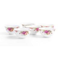 Mangkuk Capodimonte Koleksi Rose Garden 6 pcs