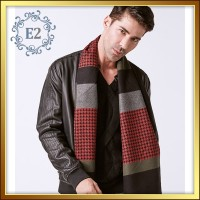Men Scarf Wool Cotton - Syal Pria Wool Katun VA249-3
