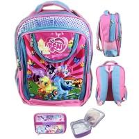 Tas Ransel Sekolah ANak SD Pony 3D Timbul Hard Cover Eva Foam LB