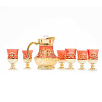 Tea Set Capodimonte 8 pcs Merah
