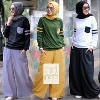 kirey set/setelan baju dan celana panjang/setelan olahraga hijabbers