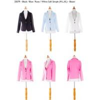 White,Rose,Blue,Black Soft Simple (M,L,XL) Blazer -32079 kualited