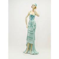 Pajangan Figurine Wanita Berdiri Blue
