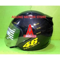 Helm Half AGV Replika Motif Carbon 46 Project