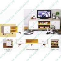 meja rak tv olympic curla 0881139 scandinavian coklat putih bandung
