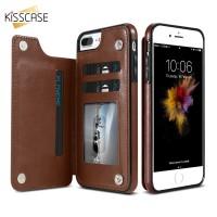 KISSCASE Retro PU Leather Wallet Case For iPhone 6 6Plus 6S 6S Plus