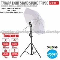 Takara Spirit 1 Folded Tripod Light Stand Payung Umbrella Studio