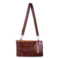 Best Seller Tas Cantik Wanita Quinta Hpo Shiny Matching - Soft Brown