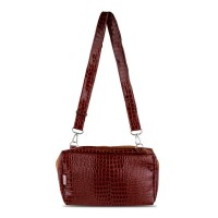 Best Seller Tas Cantik Wanita Quinta BBO Croco Glossy - Soft Brown