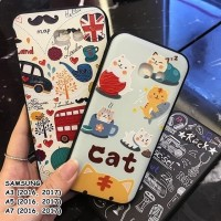 FOR SAMSUNG GALAXY A3, A5, A7 - LONDON. CAT. BLACK MUSIC CASE CASING