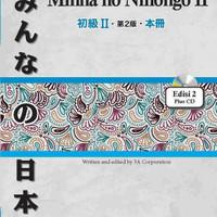 Buku Pelajaran Bahasa Jepang MINNA NO NIHONGO 2 EDISI 2 (Plus CD)