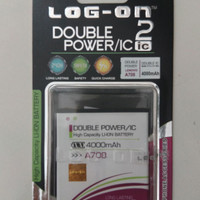 Batre Dobel Power Lenovo A708/A859/A850/BL212 Baterai Log On Double IC