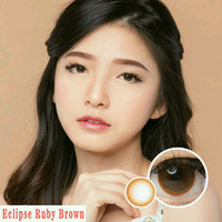 Eclipse Ruby Brown softlens
