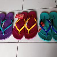 Sandal Jepit / Sendal Jepit New Era Polos Pelangi