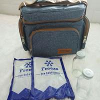 Tas Penyimpan ASI/Tas Bekal/Cooler Bag Dialogue Denim Style DGT7130