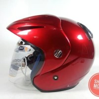 HELM INK CX 22 RED MAROON UKURAN L