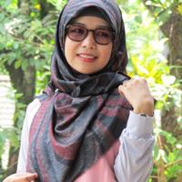 jilbab segi empat/hijab rawis/kerudung/jilbab motif/hijab syar'i/sifon