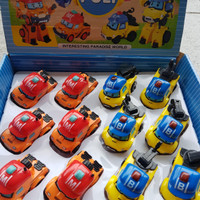 Grosir Robocar Poli Mark & Bucky 1box 12pcs- mini diecast