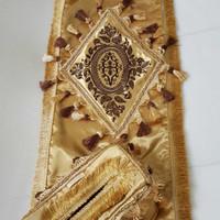 taplak meja tamu emas gold mewah turki empire