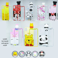 Case Boneka Intip Oppo F5 A73 A79 Free Tempered Glass Softcase