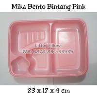 Tray mika bento PINK/Kotak Bento Pink/Lunch Box Sekat/Kotak Makan Mika