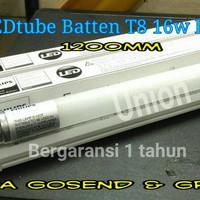 Lampu TL T8 Ecofit Led Philips + udh sama Bohlam putih 16 Watt 120 cm