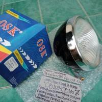 LAMPU DEPAN HONDA CB100-CB125-CG110-S90Z hitam